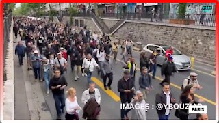 Citizens From All Over France March for Freedom and Protest Against Mandatory Vaccination - 2437