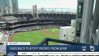 Padres fans from afar