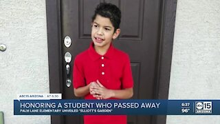 Valley school honors student who passed away with garden