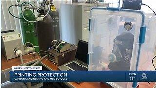 "COVID-19: UArizona ""printing"" protective gear"