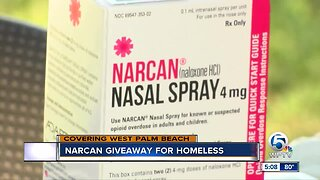 Narcan giveaway for the homeless in West Palm Beach