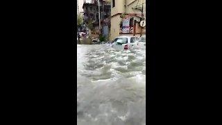 Massive flooding in Mumbai due to heavy overnight rains