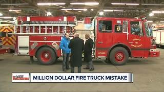 Million dollar fire truck mistake