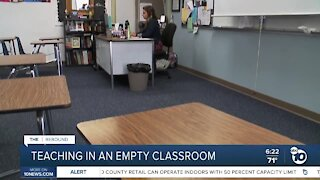 Teachers starting fall classes from empty classrooms