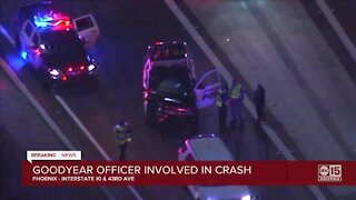 Goodyear officer involved in crash