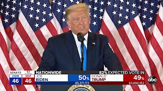President Trump falsely claims victory as millions of votes remain uncounted in key battleground states