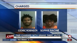 Pair charged with Grand Theft Auto in Collier County