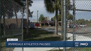 Riverdale athletics on hold