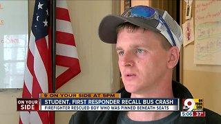 Student, first responder recall bus crash