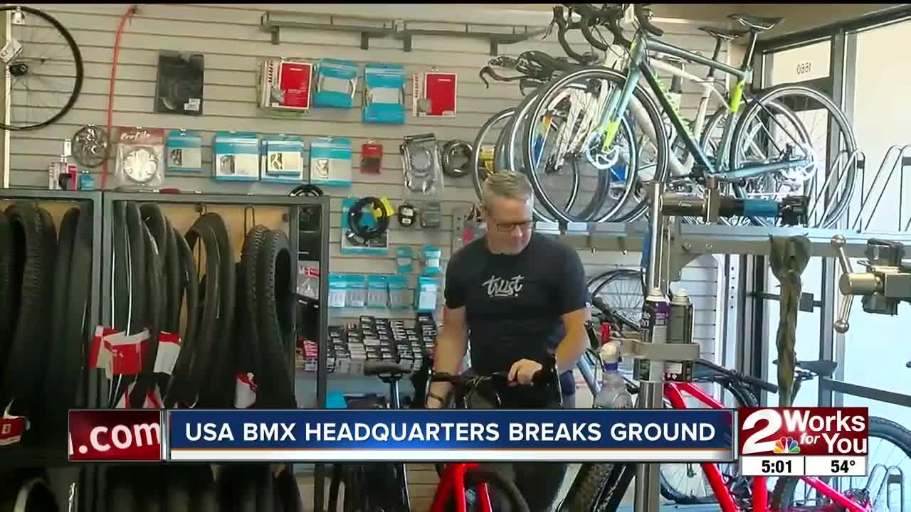 USA BMX headquarters breaks ground