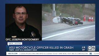 ASU motorcycle officer killed in crash Thursday