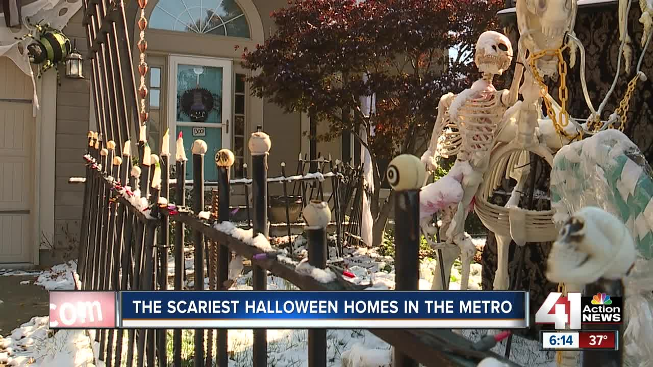 Halloween fanatics go all out with scary decorations in Kansas City
