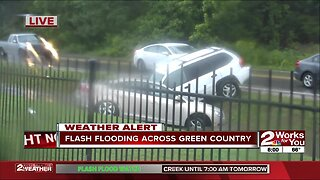 Flooding causes crashes around Green Country