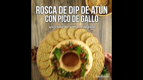 Tuna dip with pico de gallo