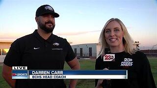 Live interview with BCHS HC Darren Carr