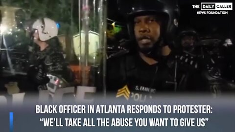 Protestors Harass Black Police Officer and He Responds with Pure Class