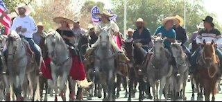 Horse parade in Las Vegas to support Joe Biden
