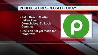 Publix stores in Palm Beach County, Treasure Coast closed Monday