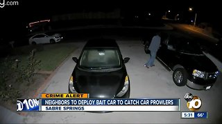 Neighbors set trap for would-be thieves