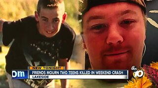 Friends mourn two teens killed in Lakeside crash