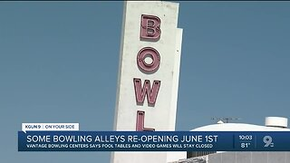 Some bowling alleys will reopen June 1