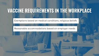 Vaccine requirements in the workplace