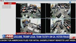 Georgia Election Fraud caught on camera