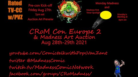 CRoM Con Europe 2 Kick Off Party!! Art Auction Preview!!