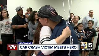 Car crash victim meets hero that helped save his life