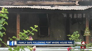 Fire destroys home in North Fort Myers