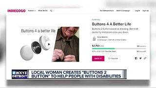 """Local woman creates """"Buttons 2 Button"""" to help people with disabilities"""