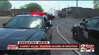 Suspect killed, troopers injured in shootout