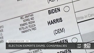 Election experts dispel Maricopa County election conspiracies