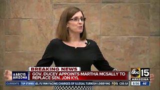 Martha McSally appointed to Senate