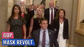 Active GOP Revolt Against Pelosi: Mass Protest of Capitol Mask Mandate/ARREST Order