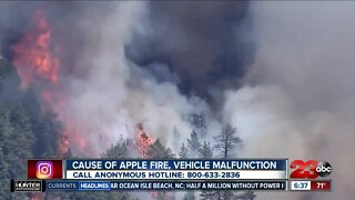 Apple Fire cause confirmed