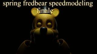 five nights at freddy's: spring fredbear Speedmodel finale