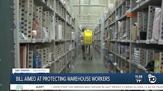 Bill aimed at protecting warehouse workers