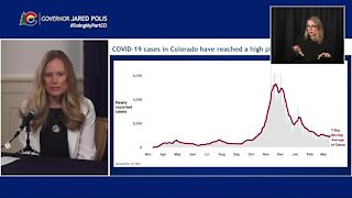 Colorado officials say COVID-19 cases, hospitalizations currently in a high plateau