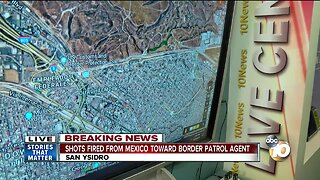 Border Patrol agent reports being fired at from Mexico