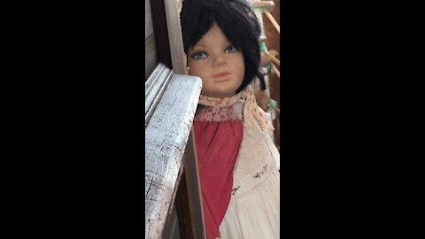 Creepy thrift store doll
