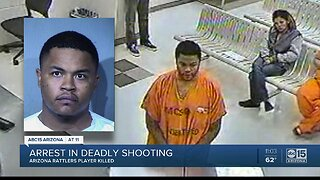 Arrest announced after shooting of Arizona Rattlers player