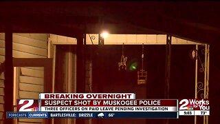 Suspect shot by muskogee police