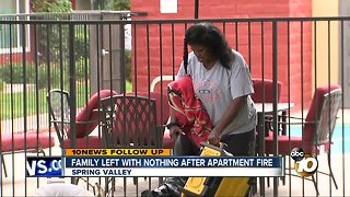 Spring Valley family left with nothing after apartment fire