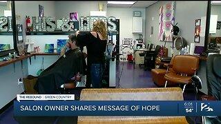 Salon owner shares message of hope