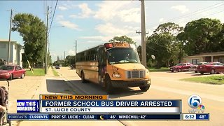 Former St. Lucie County school bus driver accused of inappropriately touching child
