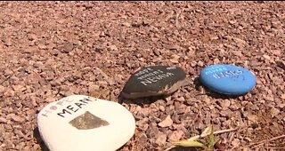 Rocks spread messages of hope in Las Vegas