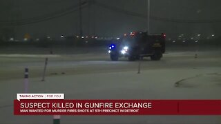 Suspect killed in shootout on Detroit's east side