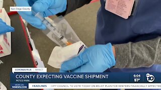 San Diego County expecting COVID-19 vaccine shipment