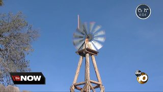 Winds rush through East San Diego County